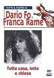 DVD TUTTA CASA,LETTO E CHIESA TEATRO DI DARIO FO FRANCA RAME