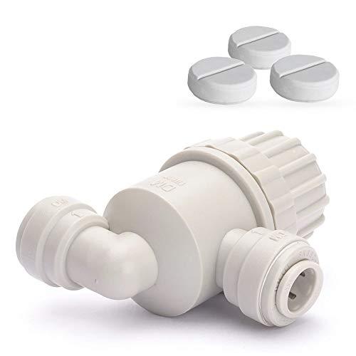 Desinfektion-Set für Wasserfilter mit 3/8 Zoll Quick Connect Anschluss, Desinfektionsmittel Desinfektion für Tafelwasseranalagen Sprudelanlagen Sprudelgeräte Sprudelux