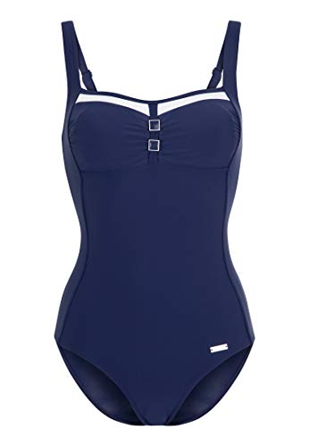 Lascana Damen Badeanzug mit Kontrastdetails & Shaping-Einsatz