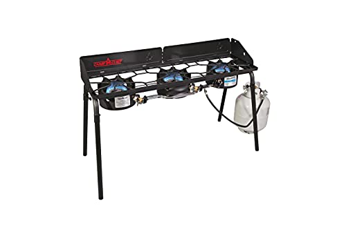 Camp Chef Explorer 3X Three-Burner Stove, Cooking Surface 14 in. x 49 in.