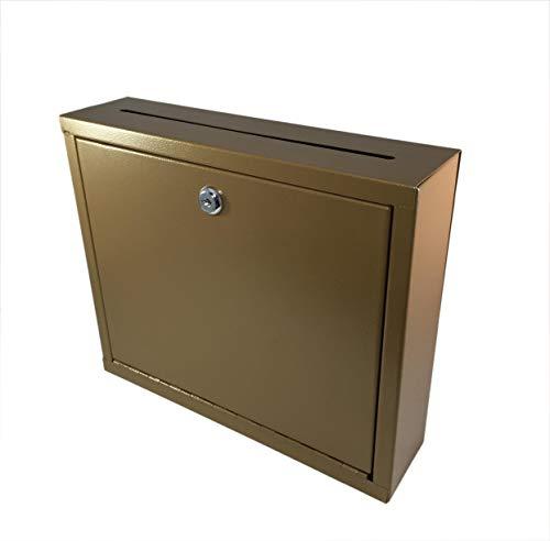 FixtureDisplays Multipurpose Wall Mountable Medium Size Suggestion Box Donation Box Drop Box Mailbox Cash Box 15212-copper-NF