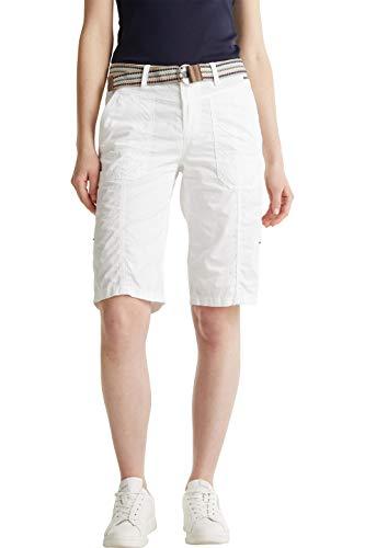 ESPRIT Damen 030EE1C310 Shorts, 100/WHITE, 40