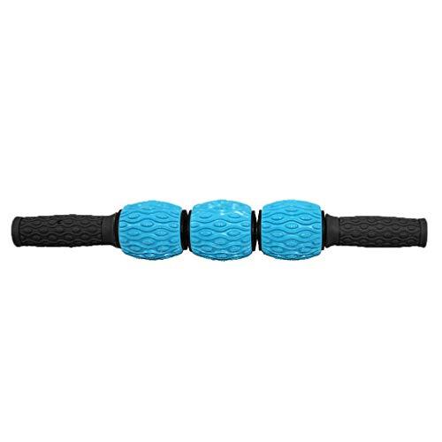 Muskel Massageroller, Fußmassageroller bestes Tool für schmerzende, angespannte Muskeln, Krämpfe & Knoten. Super Massage für Waden, Beine, Rücken & Erholung von Muskelkater. (Blau)