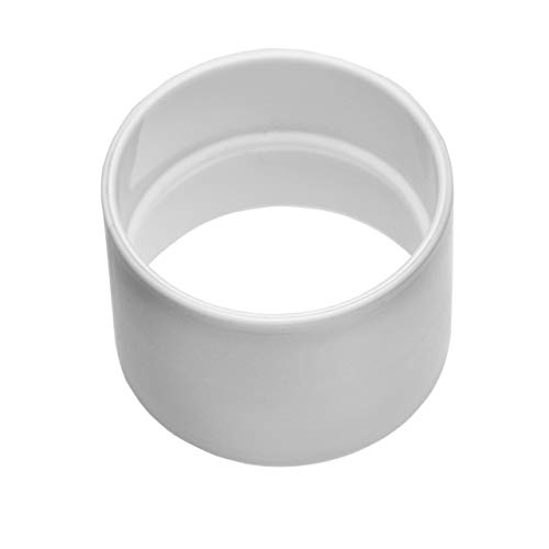 vhbw Rohrkupplung mit Anschlag, innen/innen, 50.8mm Durchmesser - passend für Zentral-Staubsaugeranlage