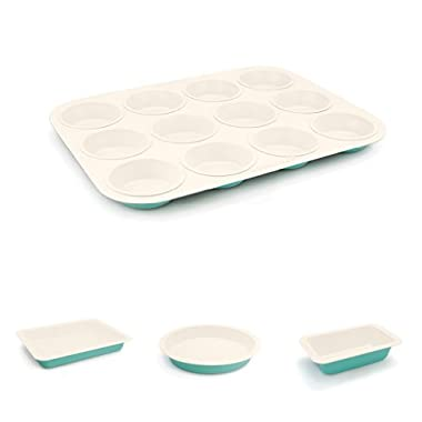 GreenLife Ceramic Bakeware Bundle, Turquoise