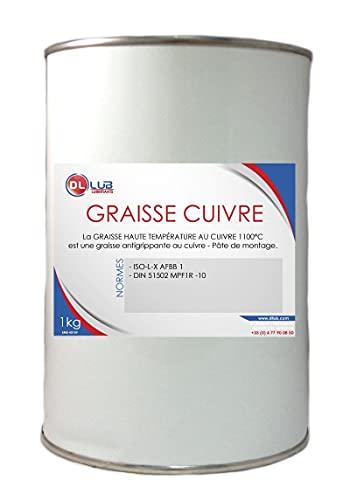 DLLUB - GRAISSE HAUTE TEMPÉRATURE AU CUIVRE 1100°C - 1 Kg