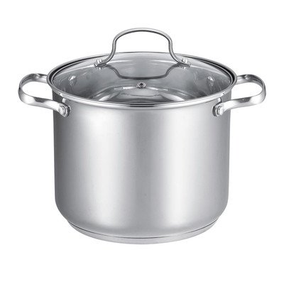 Wee's Beyond All Covered Stock Pot, 12 quart, Stainless Steel