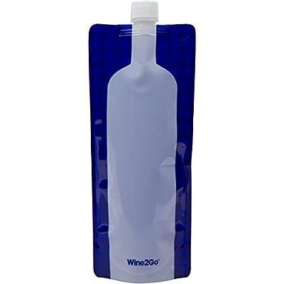 Foldable wine bottle