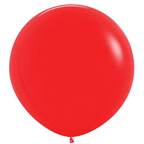 Amscan International Sempertex door Amscan 20006686 36in Premium Latex ballonnen 2 Pack Flash Rood