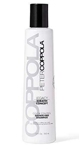 Peter Coppola Keratin Concept Color Control Sulfate-Free Shampoo – 12 oz – Gentle Cleansing, Keratin Complex, Color Safe Shampoo for Daily Use