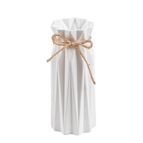 WDNMD Vasi Geometrici nordici plastica Vaso Origami per i Fiori per Le Piante Case Arrangement Vaso del Pot Decorazione Domestica Vaso di Fiori,Bianca