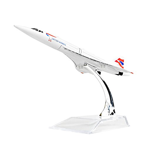 Diecast Plane 1:400 BRITISHF-BVFB Concorde Metal (16cm) Plane Model Office Decoration or Gift by LESES