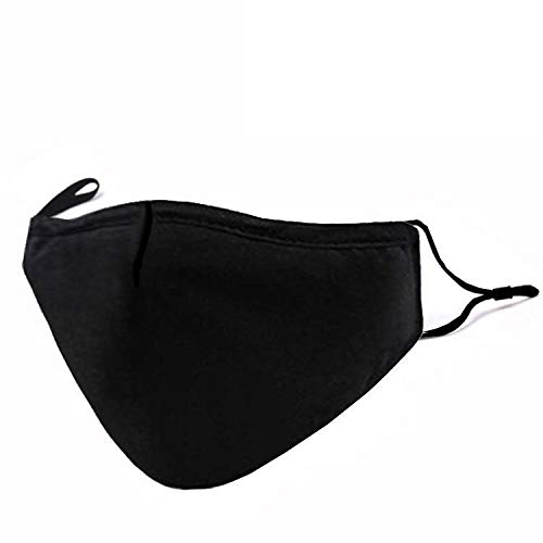 3 Layers Cotton Face Masks Washable and Reusable Filter Dustproof Mouth Cover for Men Women Outdoor Cycling Ski Warm Protection
