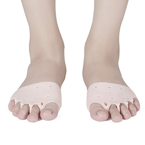 Y DWAYNE 2 Paar Gel Toe Separator Metatarsal Pads Kit, Toe Stretcher Bunion Spacer für orthotisch überlappende Zehen, Tragen in Socken oder Schuhen