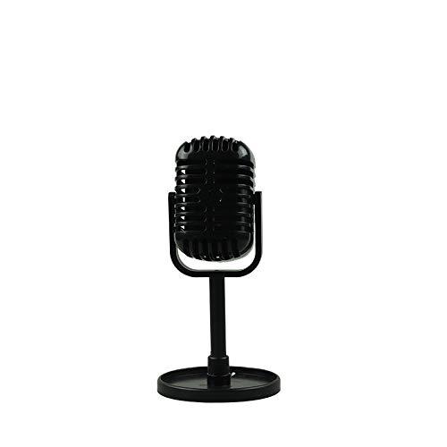 OUYAWEI Goed voor Smart voor Klassieke Retro Dynamische Vocale Microfoon Vintage Stijl Mic Universele Stand Compatibel Live Performance Karaoke Studio Opname, Zwart