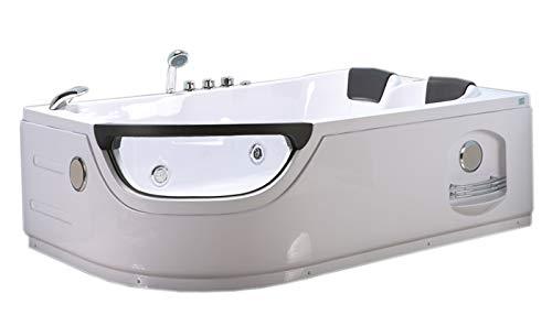 WHIRLPOOL BADEWANNE Modell ELITE 120 X 180 cm WHIRLPOOL RECHTECK 2 PERSONEN NEU SPA TUB HOT TUB BATH TUB