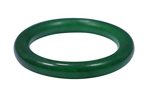 Frauen Nature Grade Grün Jadeit Jade Gems Armband Armreif Größe 57mm