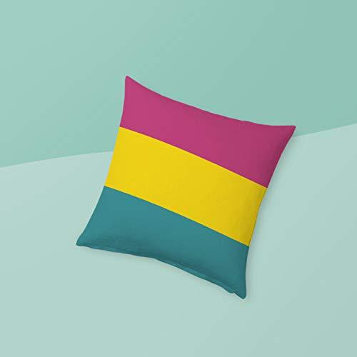 Pan Pride Kussen Panseksuele Vlag Queer Liefde Is Liefde Gooi Kussen Roze Geel Blauw