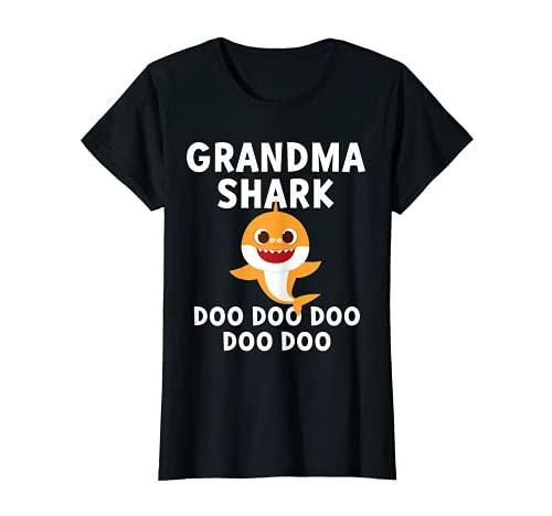 Womens Pinkfong Grandma Shark Official T-sh