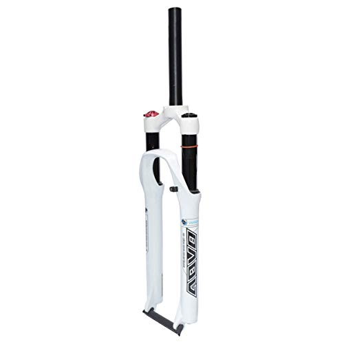 TYYT MTB Suspension Fork 26/27.5/29 Inch, Downhill Air Fork, 1-1/8', Straight, Manual Lockout - White (Color : Manual Lockout, Size : 26 inches)