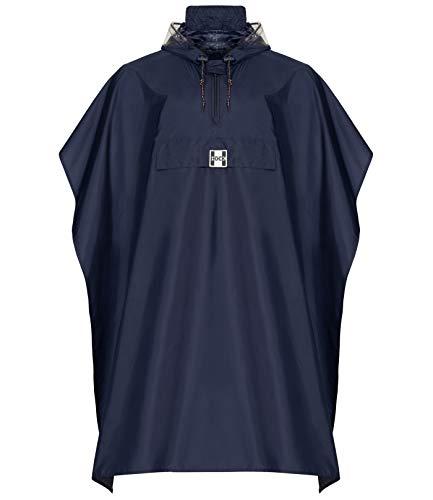 Hock Regenbekleidung Pioggia Mantello, Circa Il 30% Riduce, winziger difetto Ottico Blu Marino L bis 165 cm Altezza
