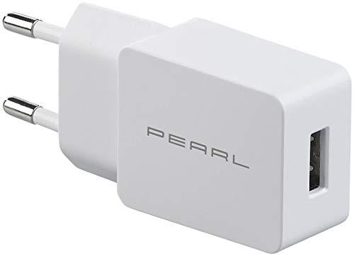 PEARL Netzteil Handy: USB-Netzteil für Smartphone, E-Book-Reader u.v.m, 2 A / 10 W, weiß (Netzadapter)