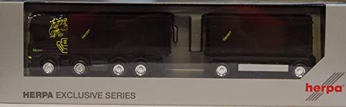 Herpa 936552 Scania R `13 TL Abrollmulden- Hängerzug Buchs-Lenk (CH)