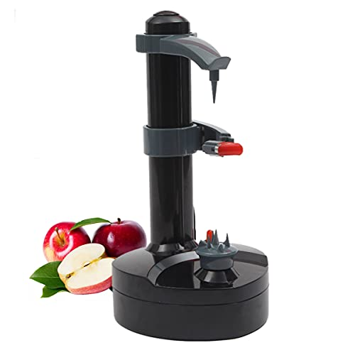 QNMM Electric Peeler with 2 Replacement Blades - Automatic Rotating Fruits Fruit Potato Peeler Vegetables Cutter Apple Paring Machine Kitchen Peeling Tool