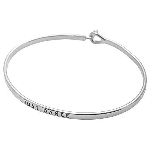 SpinningDaisy Personal Mantra Message Cuff Bracelet