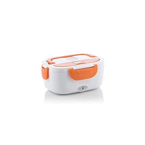 InnovaGoods Fiambrera Eléctrica para Coches 40 W, PP, Blanco y Naranja, 16.5x23x10.5 cm