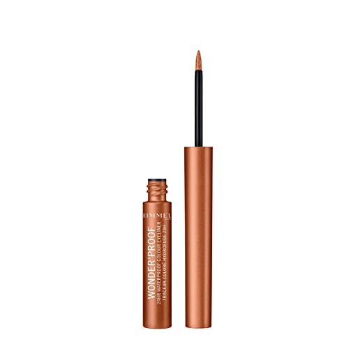 Rimmel London Wonder Proof Liner Delineador de Ojos Tono 001 True Copper (Gama Bronces) - 2,6 ml