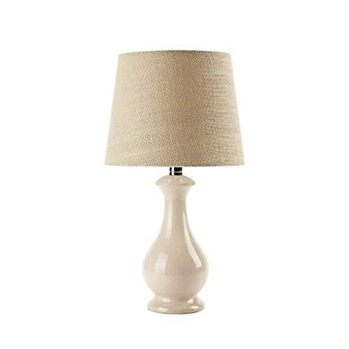 CAIJINJIN Lámparas de mesa Lámparas de mesa, personalidad simple lámpara de cerámica, dormitorio de noche las luces calientes Pastoral moderno y minimalista Moda casadas luces de lectura luz de la noc
