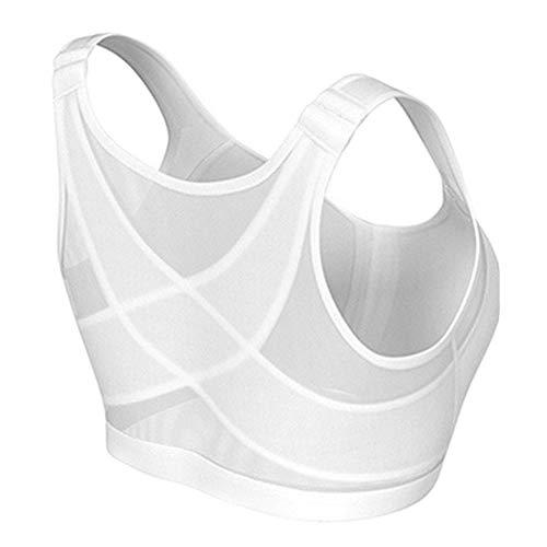 Zoloyo Damen Drahtloser Haltungs-Stütz-BH, atmungsaktiver Frontverschluss Unterwäsche BH Wireless Rückenunterstützung Lift Up Yoga BH Unterwäsche für Frauen Yoga Sport