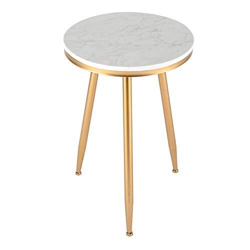 Zaixi Table Ronde en marbre - Table Basse, à l'intérieur et à l'extérieur, 3 Pieds, Marbré, Métal, Noir, Or, 15.7\