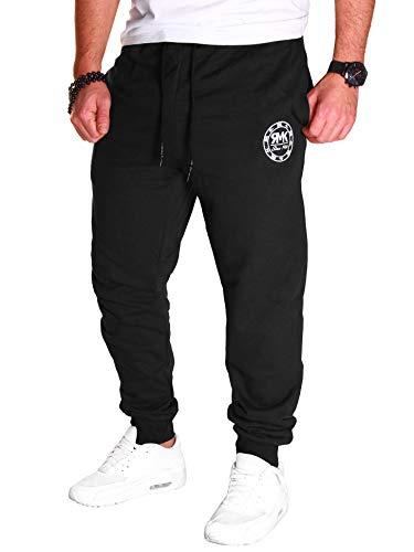 RMK Herren Hose Jogginghose Sweatpants Fitnesshose Trainingshose Schwarz H.07 Gr.M