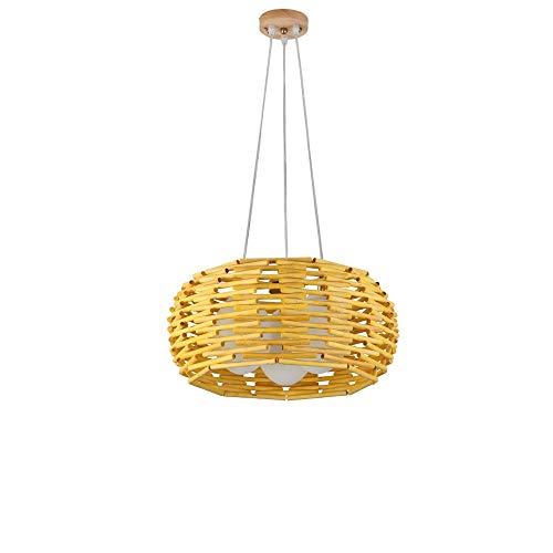 ZGZRXGY Estilo asiático estilo ratán tejido lámpara de araña estilo japonés simple estilo retro colgante iluminación hotel vestíbulo decoración Droplight mimbre bambú hecho a mano equipo de iluminació