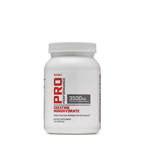 GNC Pro Performance Creatine Monohydrate 3500mg - 120 Capsules, Helps Improve Athletic Performance