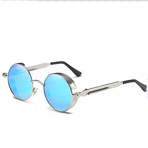 Redondas Steampunk Polarizadas Gafas De Sol, Retro Gafas De Sol Polarizadas Para Hombres Y Mujeres, Forma El Marco De Aleación De Metal, Gafas De Sol Personalizadas(Size:Polarización,Color:mi)