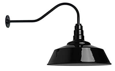 20 Inch Standard Steel Dome | 23 Inch Gooseneck Barn Light