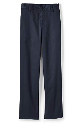 Lands' End Young Men's Blend Plain Front Chino Pants 27 Classic Navy