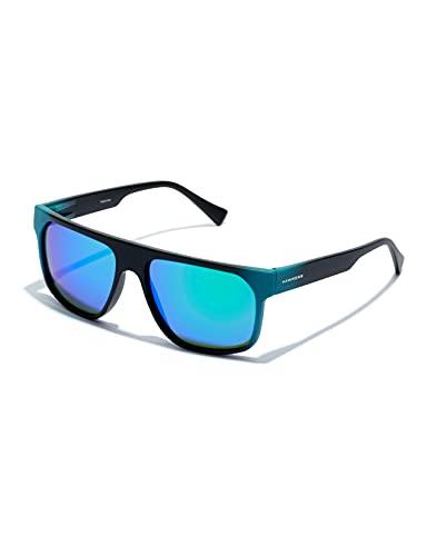 HAWKERS CHEEDO · Gafas de Sol, Carbon Black Blue Emerald, Talla única Unisex Adulto