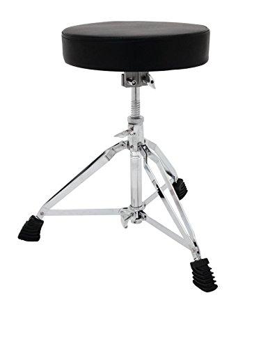 showking Set 2 x Schlagzeugsitze Lifter XL, höhenverstellbar, schwarz - großer Schlagzeug - Hocker/schwarzer Drumsitz