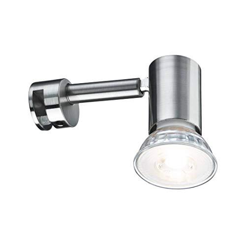 Paulmann 99905 Galeria Spiegelleuchte LED Spiegellampe Simplo Badezimmerlampe Eisen gebürstet Spiegelbeleuchtung inkl. Leuchtmittel 1x53W GU10