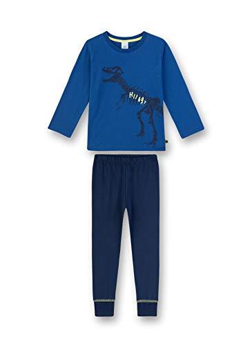 Sanetta Jungen Pyjama lang Zweiteiliger Schlafanzug, Blau (blau 519), (Herstellergröße:140)