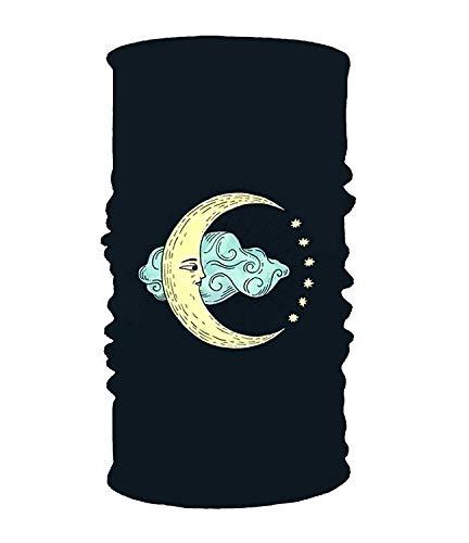CHSUNHEY Bandeaux,serre-têtes,The Moon Elastic Cool Seamless Magic Scarf Headband,Face Mask,Balaclava Bandana UV Resistence Sport Headwear for Outdoor Sports