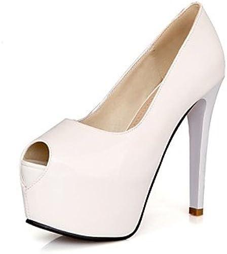 Zormey damen schuhe Stiletto Heels Platform Peep Toe Party &Amp; Evening Dress schwarz rot Weiß Almond
