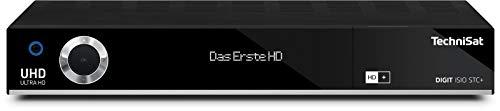 TechniSat DIGIT ISIO STC+ - UHD Receiver mit Twin Tuner (Sat DVB-S/DVB-S2, Kabel DVB-C, DVB-T2 HD, App Steuerung, PVR Aufnahmefunktion, HDMI, WLAN, LAN, CI+, USB 3.0, 6 Monate HD+) schwarz