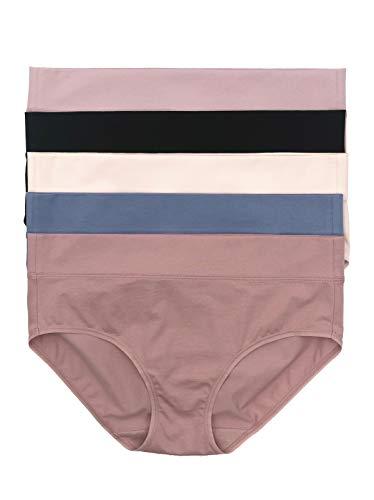 Felina   Pima Cotton Hipster Panty   5-Pack (City Basics, Small)