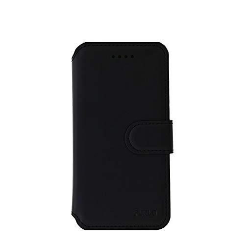 Ntech Apple iPhone Xr Luxe Portemonnee hoesje Furlo Design met Sta-Functie - Zwart