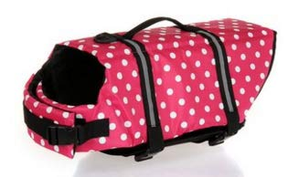 犬 Pet Dog Polka Dot Chaleco Salvavidas Rose Red S 0304